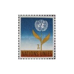 1 عدد تمبر سری پستی - نیویورک ، سازمان ملل 1961