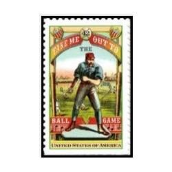 1عدد تمبر بیس بال - آمریکا 2008