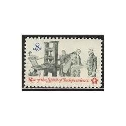 1 عدد تمبر صدمین سالگرد استقلال - آمریکا 1973