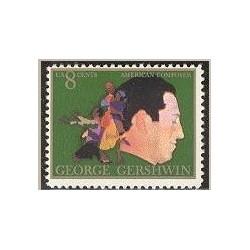 1 عدد تمبر صدمین سالگرد گرشوین - آهنگساز - آمریکا 1973