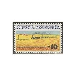 1 عدد تمبر نواحی روستاهایی - آمریکا 1974