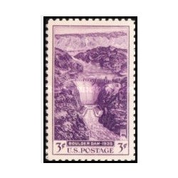 1 عدد تمبر سد بولدر - آمریکا 1935