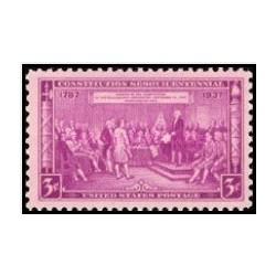 1 عدد تمبر 150مین سالگرد قانون اساسی - آمریکا 1937