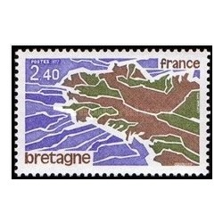 1 عدد تمبر نواحی فزانسه ، برتن - فرانسه 1977