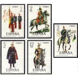 5 عدد تمبر یونیفورمهای نظامی - اسپانیا 1978