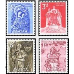 4 عدد تمبر عرش عظیم 1565 - مالت 1962