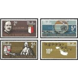4 عدد تمبر سالگردها و رویدادها - مالت 1969