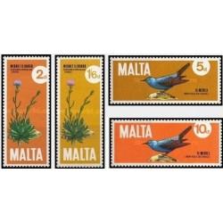 4 عدد تمبر گیاهان و جانوران - مالت 1971