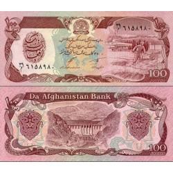 اسکناس 100 افغانی  - افغانستان 1991