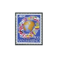 1 عدد تمبر ASCAT - سان مارینو 1982