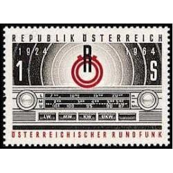 1 عدد تمبر چهلمین سالگرد پخش صدا و سیما در اتریش - اتریش 1964