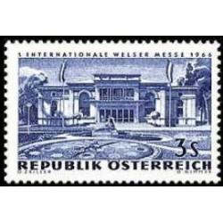 1 عدد تمبر اولین نمایشگاه بین المللی ولز - اتریش 1966