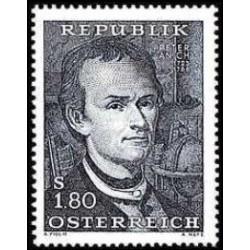 1 عدد تمبر دویستمین سالگرد مرگ پیتر آنیخ - نقشه کش و سازنده ابزار ریاضی  - اتریش 1966