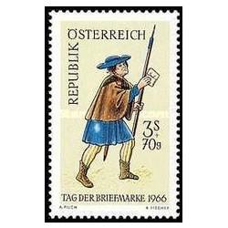 1 عدد تمبر روز تمبر - اتریش 1966