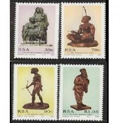 4 عدد تمبر مجسمه ها اثر آنتون ون وو - آفریقای جنوبی 1992
