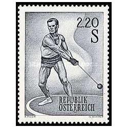 1 عدد تمبر ورزش ها - اتریش 1967
