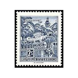 1 عدد تمبر سری پستی - آثار معماری اتریش - اتریش 1968