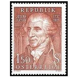 1 عدد تمبر 150مین سالگرد مرگ ژوزف هایدن - آهنگساز - اتریش 1959