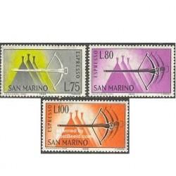 3 عدد تمبر تحویل اختصاصی - سان مارینو 1966
