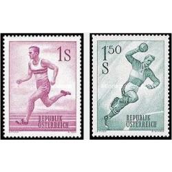 2 عدد تمبر ورزش ها - اتریش 1959