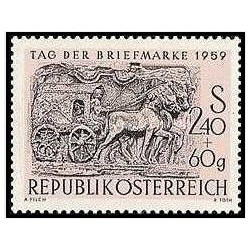 1 عدد تمبر روز تمبر - اتریش 1959