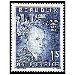 1 عدد تمبر 25مین سالگرد مرگ آنتون ویلد گنز - اتریش 1957