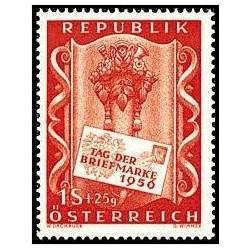 1 عدد تمبر روز تمبر - اتریش 1956