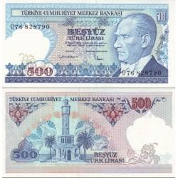 اسکناس 500 لیر - ترکیه 1970    سری  C17-E90