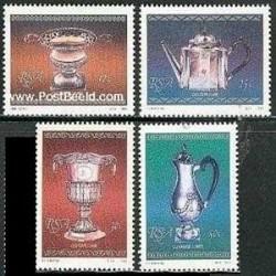 4 عدد تمبر ظروف نقره - آفریقا جنوبی 1985