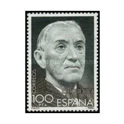 1 عدد تمبر صدمین سالگرد تولد رامون پرز دی ایالا ، 1880-1962 - اسپانیا 1980