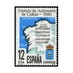 1 عدد تمبر سالگرد اساسنامه استقلال گالیسی - اسپانیا 1981