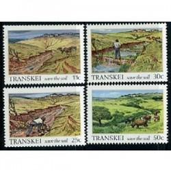 4 عدد تمبر حفظ خاک - ترنسکی - آفریقای جنوبی 1985