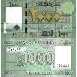 اسکناس 1000 لیر - لبنان 2012
