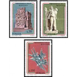 3 عدد تمبر 30مین سالگرد پیروزی جنبش مقاومت - ایتالیا 1975