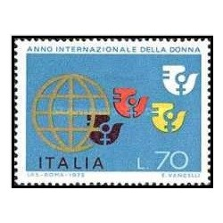1 عدد تمبر سال بین المللی زنان - ایتالیا 1975