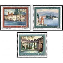 3 عدد تمبر تبلیغات گردشگری - تابلو نقاشی - ایتالیا 1975