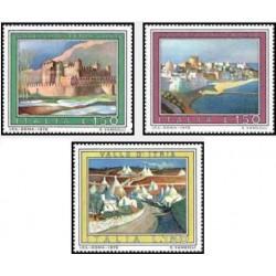 3 عدد تمبر تبلیغات گردشگری - تابلو نقاشی - ایتالیا 1976