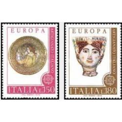 2 عدد تمبر مشترک اوپا - Europa Cept - ایتالیا 1976