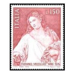 1 عدد تمبر چهارصدمین سالگرد مرگ تیتان - نقاش - ایتالیا 1976