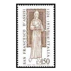 1 عدد تمبر 750مین سالگرد مرگ فرانسیس آسیسی - بنیانگذار فرقه آسیسکن  - ایتالیا 1976