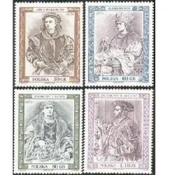 4 عدد تمبر پرتره فرمانروایان تاریخی - تابلو - لهستان 1997