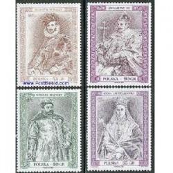 4 عدد تمبر فرمانروایان تاریخی - لهستان 1998