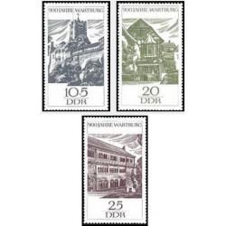 3 عدد تمبر 900 سالگی شهر وارتبورگ - تابلو - جمهوری دموکراتیک آلمان 1966
