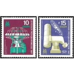 2 عدد تمبر نمایشگاه بهار لایپزیگ - جمهوری دموکراتیک آلمان 1967