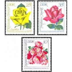 3 عدد تمبر نمایشگاه بین المللی گل رز - سری چاپ کوچک - جمهوری دموکراتیک آلمان 1972