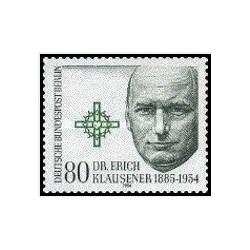 1 عدد تمبر پنجاهمین سال  مرگ دکتر اریش کلوزنر - سیاستمدار - برلین آلمان 1984 قیمت 4.2 دلار