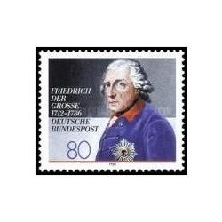 1 عدد تمبر 200مین سالگرد مرگ فردریک کبیر - جمهوری فدرال آلمان 1986