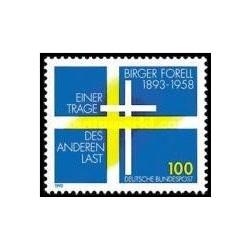 1 عدد تمبرصدمین سالگرد ابداع بازی بریگر فورل - عارف سوئدی - جمهوری فدرال آلمان 1993