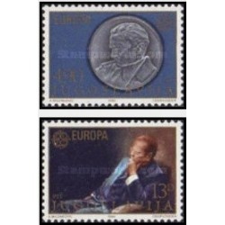 2 عدد تمبر مشترک اروپا - Europa Cept - شخصیتها - یوگوسلاوی 1980