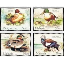 4 عدد تمبر پرندگان - اردک - مالزی 2006
